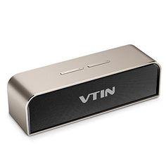 [Nouveauté] VTIN Royaler Enceinte Portable Bluetooth Stéréo 20W Premium Haut-parleur Bluetooth 4.0 avec Basses et Volume Puissants…