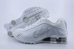 55b351327fb Nike shoes outlet store in California nike shox r4 white grey Nike Shox  Shoes