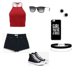 """""""Untitled #22"""" by itsallmad123 on Polyvore featuring Converse, Ray-Ban, Miss Selfridge and Kate Spade"""