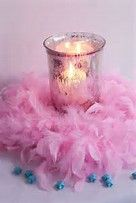Mercury glass, boas, and star confetti - Party Ideas - Sweet 16 Birthday, Birthday Fun, Birthday Parties, Birthday Ideas, Tulle Poms, Paper Pom Poms, Tulle Tutu, Tissue Paper, Party Centerpieces