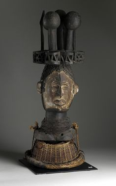 Mask Africa, Nigeria, Igbo peoples Jewelry and Adornments; masks Wood 26 1/4 x 10 x 9 in. (66.67 x 25.4 x 22.86 cm) Mask   LACMA Collections