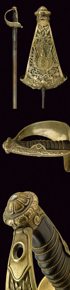 A sabre beargin a knightly order, provenance: Turkey dating: 19th Century