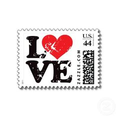love stamp on a love letter