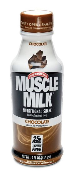 Muscle Milk. Protein shake. Boom.