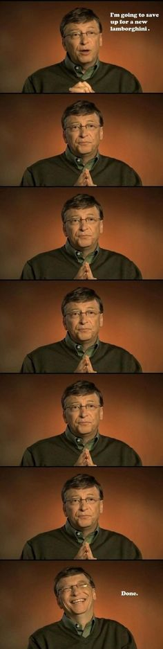 Bill Gates is Saving Up for a Lamborghini