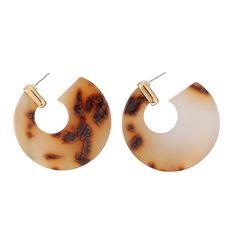 Stud Earrings Fashion Leopard Print Multi-color Acrylic Tortoiseshell Earrings Acrylic Acetic Acid Stud Earrings Women Fashion Jewelry Durable Modeling Earrings