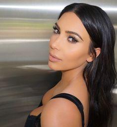 Beautiful neutral makeup kim kardashian hair michael silva hair #MakeupByMario