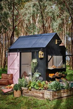 New Kind Of Cubby House Castle + Cubby are an inspiring family business who have taken the humble cubby house and turned it into something very stylish indeed.Castle + Cubby are an inspiring family business who have taken the humble cubby house and turned Kids Cubby Houses, Kids Cubbies, Play Houses, Pergola, Gazebo, Garden Table, Outdoor Gardens, Outdoor Living, Home And Garden