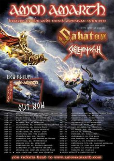 HUGE TOUR - SABATON to Join AMON AMARTH and SKELETONWITCH on Tour this Fall!