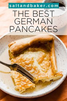 This German pancake recipe is so easy to make. I put all the ingredients in a blender, pulse it and it's done! This German pancakes recipe takes 5 minutes to prep. You'll have breakfast ready in no time at all. I love fluffy German pancakes and this makes fluffy pancakes every single time. It's a healthy breakfast option and goes well with maple syrup or buttermilk syrup. Brunch Recipes, Fall Recipes, Breakfast Recipes, Breakfast Ideas, Delicious Recipes, Healthy Recipes, Pancakes Easy, Pancakes And Waffles, Fluffy Pancakes
