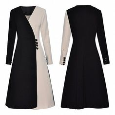 Westfront – Vestido Elegante Preto e Branco – Westfront Westfront – Elegant Black and White Dress – Westfront Stylish Work Outfits, Stylish Dresses, Classy Outfits, Casual Dresses, Abaya Fashion, Muslim Fashion, Women's Fashion Dresses, Pronovias, Iranian Women Fashion