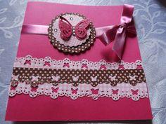 Convite borboleta em papel para scrapbook -  by Rose Oak