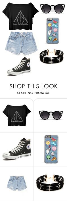 """""""Untitled #15"""" by elo379 ❤ liked on Polyvore featuring Converse, RE/DONE and Forever 21"""