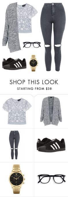 """""""We both know it's not what it seems"""" by royalvodka on Polyvore featuring Needle & Thread, Topshop, adidas and Emporio Armani"""