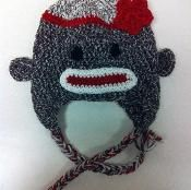 Sock Monkey Hat (toddler to teen) - via @Craftsy