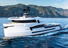 Explorer yacht concept Naucrates 130 by Cantieri Navali di Chioggia Yacht Design, Boat Design, Tug Boats, Motor Boats, Best Pontoon Boats, Trawler Yacht, Explorer Yacht, Camper Boat, Marine Colors