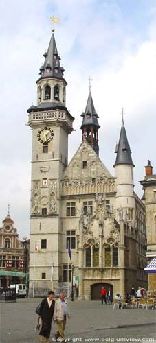Belfort of Aalst, Belgium Visit Belgium, Outdoor Clock, Living In Europe, Beautiful Castles, World Cities, Luxembourg, European Travel, Small Towns, Barcelona Cathedral