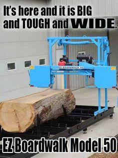 Portable Bandsaw Mill, Homemade Bandsaw Mill, Portable Saw Mill, Portable Band Saw, Lumber Mill, Wood Mill, Wood Lumber, Saw Mill Diy, Metal Working Tools