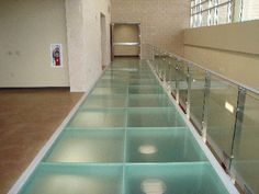 Glass floors / modular glass blocks systems....walked across a bridge like this in Tennessee