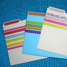 Washi tape file folders ... Creative Ways to Craft with Washi Tape | Spoonful