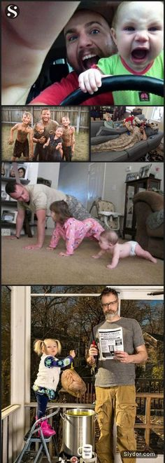 Kids Always Have More Fun With Dads #funwithdads #funnypictures #fun #fathers