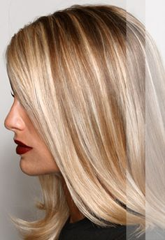 Good for natural blondes that want some definition. This was what I was trying to tell the hairstylists that I wanted.....she did not get it!     Try something like this....champagne highlights with two alternating tones incorporated. Ask your colorist to use 3 colors alternating foils, sometimes back to back the lightest with the darkest! You will be the perfect blonde <3