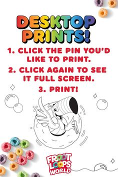 Keep your kids entertained by helping them add their our color to the Froot Loops World. Check out more fun activities and recipes on our Pinterest page. Froot Loops, Coloring For Kids, Fun Activities, More Fun, Entertaining, World, Prints, The World, Funny