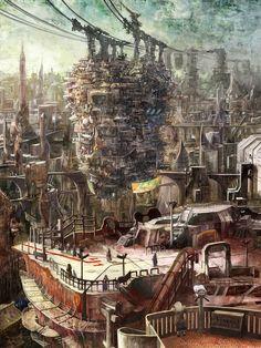 画像 : 【2次元】幻想近未来建物。美しい風景イラスト集【画像】 - NAVER まとめ