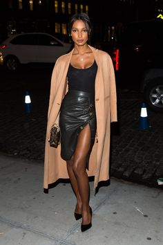 "runwayandbeauty: "" Jasmine Tookes - What all the Victoria's Secret Angels wore to watch the Show. """