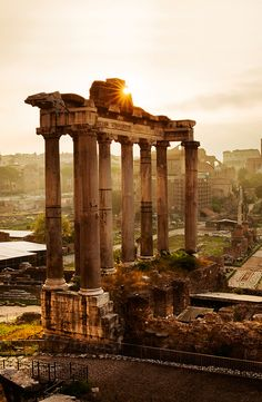 An impressive – if rather confusing – sprawl of ruins, the Roman Forum was ancient Rome's showpiece centre, a grandiose district of temples, basilicas and vibra… Rome Travel, Italy Travel, Italy Trip, Roman Concrete, Rome Holidays, Travel Around The World, Around The Worlds, Rome City, Roman Forum