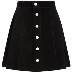 Alexa Chung for AG Lonestar Black The Gove Suede Skirt ($1,170) ❤ liked on Polyvore featuring skirts, mini skirts, bottoms, black, saia, black skirt, suede skirt, a line skirt, short skirts and short mini skirts