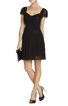 Pleated Black Dress. Because every girl needs at least 5 little black dresses.