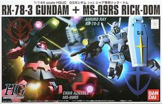 Gundam model kits HGUC 1 / 144 g-3 Gundam VS char's Rick-DOM set