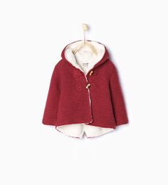 Knit jacket with ears-Coats-Baby girl-Baby   3 months - 3 years-KIDS   ZARA United States
