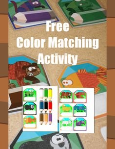 Free activity that works great for preschool and kindergarten aged kids. Target basic color skills with this activity featuring the animals and colors from Brown Bear.