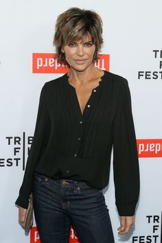 Lisa Rinna Photos Photos - TV personality Lisa Rinna attends the 2015 Tribeca Film Festival LA Kickoff Reception at The Standard, Hollywood on March 2015 in West Hollywood, California. Shaggy Short Hair, Edgy Short Hair, Short Hair With Layers, Layered Hair, Short Hair Cuts, Lisa Rhinna Hairstyles, Short Shag Hairstyles, Creative Hairstyles, Short Hairstyles For Women