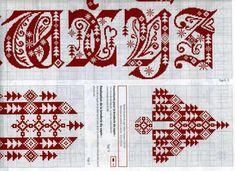 cross stitch gothic - scandinavian - christmas alphabet in 4 parts #4