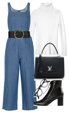 """Untitled #21199"" by florencia95 ❤ liked on Polyvore featuring Les Copains, Madewell, Louis Vuitton and Yves Saint Laurent"