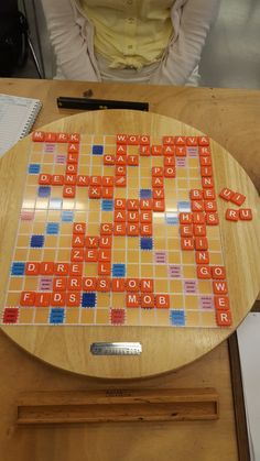 Some game boards from the warmup event at the Mindsports scrabble Olympiad from Nottingham G Words, Some Games, Scrabble, Board Games, Image, Tabletop Games, Table Games