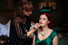 Putting the final touches on one of our brides Hair & makeup WHAM Artists http://weddinghairandmakeupartists.com/