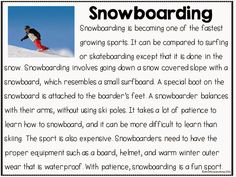 Close Reading: Winter. Snow, blizzard, snowboarding, skiing, ice skating, President's Day, Valentine's Day, MLK, etc.  Open ended questions, questioning to support text, vocabulary word review and definition pages, webs, identifying key elements and key features of texts are all included.