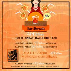 Tutti i Sabati dalle 18.30 un #aperitivo sempre diverso con l'#APERITROVO da #Bar #Marcello a San Piero a Sieve.  Sab 29.03 - APEritrovo #Mexicano Sab 05.04 - APEritrovo #Marocchino Sab 12.04 - APEritrovo #Musica dal Vivo con JILL & JOE Sab 19.04 - APEritrovo #Spagnolo Mugello Coupon approved. #Enjoy #Mugello!