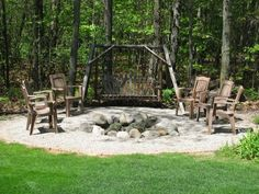 10 Fantastic Ideas Can Change Your Life: Iron Fire Pit fire pit gazebo bricks.Corner Fire Pit How To Build fire pit wedding wine barrels.Rock Fire Pit Home Decor. Fire Pit Landscaping, Fire Pit Backyard, Landscaping Ideas, Natural Landscaping, Large Backyard, Fire Pit Gallery, Fire Pit With Rocks, Custom Fire Pit, Easy Fire Pit