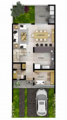 Home Building Design, Home Design Plans, Building A House, Small House Floor Plans, Modern House Plans, House Layout Plans, House Layouts, Modern Small House Design, 2 Bedroom House Plans