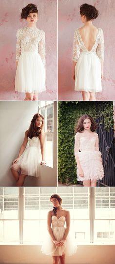 32 Chic Short Wedding Dresses - Sarah Seven