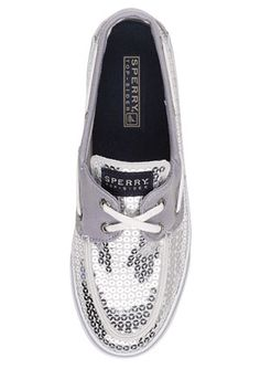 Sequined Sperry's.