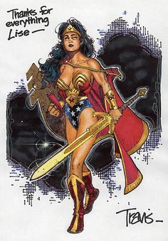 Wonder Woman by Travis Charest Comic Book Artists, Comic Artist, Comic Books Art, Wonder Woman Pictures, Travis Charest, Diana, Female Character Design, Book Images, Dc Comics