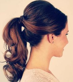 Mu & Lilo about things: Ponytail with volume: hair tutorial