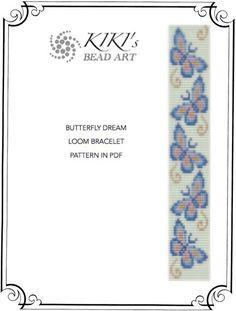 Bead loom pattern - Butterfly dream LOOM bracelet PDF pattern instant download