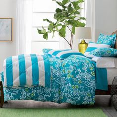 Our Bayside Floral Duvet Cover in Susan Hayward Interiors 2014 Holiday Gift Guide